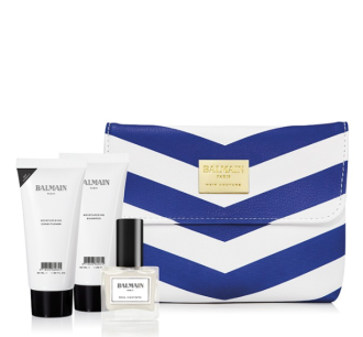 Balmain Limited Edition blue/white Cosmetic Bag