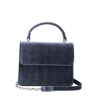 Denise Roobol Mini Handle Bag Darkblue Velvet