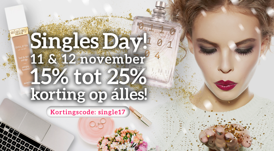 Single Day: 15% tot 25% korting op álles!